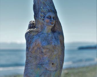 Reserved for Anne-Marie, July 3 of 3, Nature is Home, Driftwood Mermaid by Debra Bernier, ShapingSpirit
