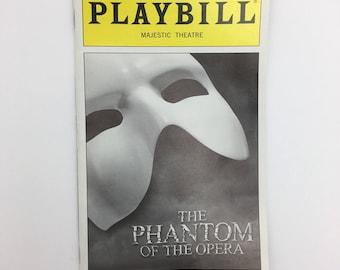 The Phantom of the Opera Playbill broadway show Majestic Theatre