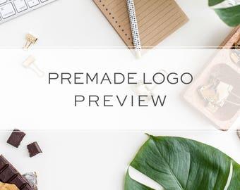 Premade Logo Preview - Try Before you Buy - Logo Sample - Logo  Add-On - Pre designed Logo Preview - Logo Sneak Peek - Logo Proof