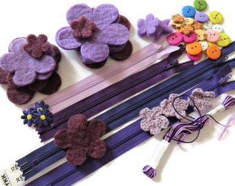 Purple Craft Inspiration Box - Craft Box - DIY Craft Box - Craft Kit Box - Purple Inspiration Box for Crafting