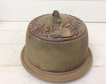 Vintage Tremar Pottery~Stoneware Cheese dome~Cheese Dish~Rare