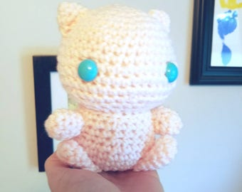 Pokemon Mew Toy. Pokemon Mew Plush. Crochet Mew Doll. Amigurumi Mew Plushie.