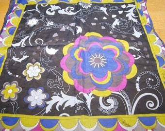 Vintage Emilio Pucci Cotton Small Scarf