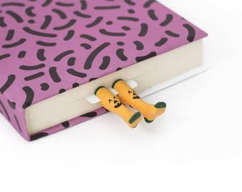 Pumpkin Socks bookmark. Orange socks with pumpkins perfect present for friend.