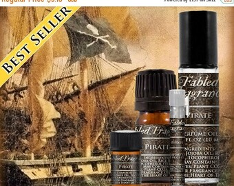 SALE PIRATE Cologne: Tropical Fruit, Coconut Milk, Citrus Lime, Bay Rum, Ocean Water, Vegan Solid Perfume, Ships Out in 5-7 Days