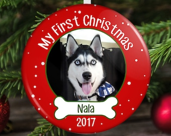 Dog's First Christmas Ornament - Puppy's First Christmas Ornament - Dog Christmas Ornament