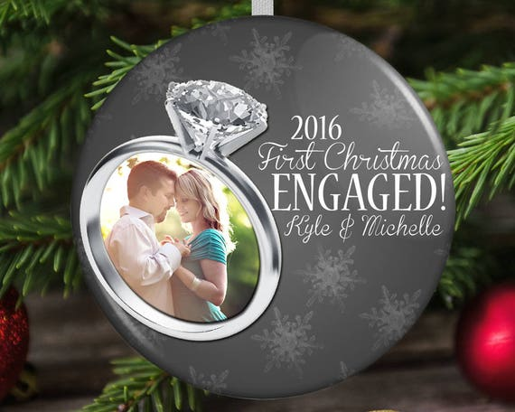 Engaged Christmas Ornament First Engaged Christmas