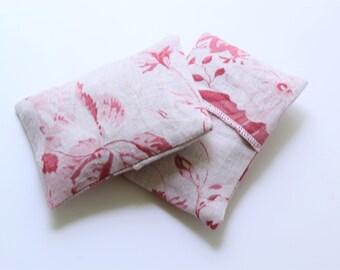 Lavender Sachet Pink Red Cabbage & Roses Linen