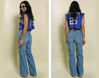 Vintage Lee Double Zip Flares Size 25 – 26″ Waist