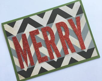 Merry Christmas Card **Ready To Ship**