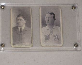 2 Card 1903-04 E107 breisch-williams cy young & honus wagner