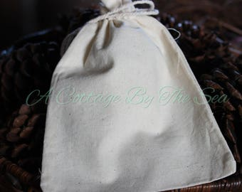 SALE - Set of 20 Cotton Bags - 3 x 4 inches - Wedding, Shower, Jewelry, Gift Pouch, Bag, Supplies