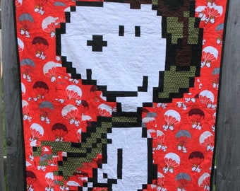 Snoopy Flying Ace - Lap Quilt - Made to Order