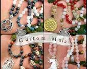 Custom Mala - 108 Bead Mala Prayer Beads / Bespoke Beaded Necklace