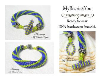 DNA Bracelet, Beadwork Bracelet, Spiral Bracelet ,Seed Bead Bracelet, Beaded Rope, Spiral, Beadwork, Embellished Bracelet, Beaded Bracelet