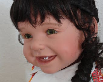 "Reborn 22"" Toddler Girl Doll ""Tatjana"" with Hedgehog"