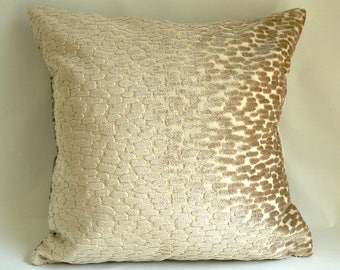 "Tan cut-chenille, 20"" Pillow"