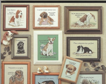 """Clearance - """"Tailwaggers #3"""" Counted Cross Stitch by Jeanette Crews Designs, Inc."""