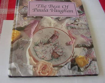 1994 The Best of Paula Vaughan Counted Cross Stitch Pattern Book, Hard Cover, HB