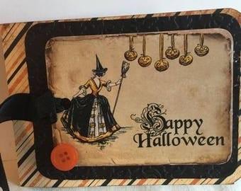 Halloween Night ~~~~  Vintage Style Halloween Tag Card~~~~
