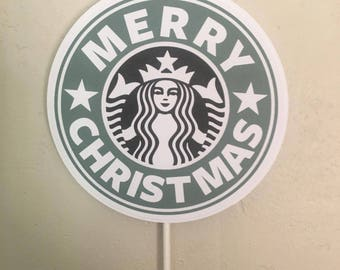 Starbucks Merry Christmas Centerpiece.