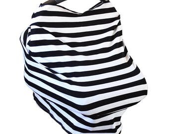 Stripes Cover, car seat cover, carseat cover, nursing cover, nursing cover up, carseat canopy, breastfeeding cover, baby shower gift
