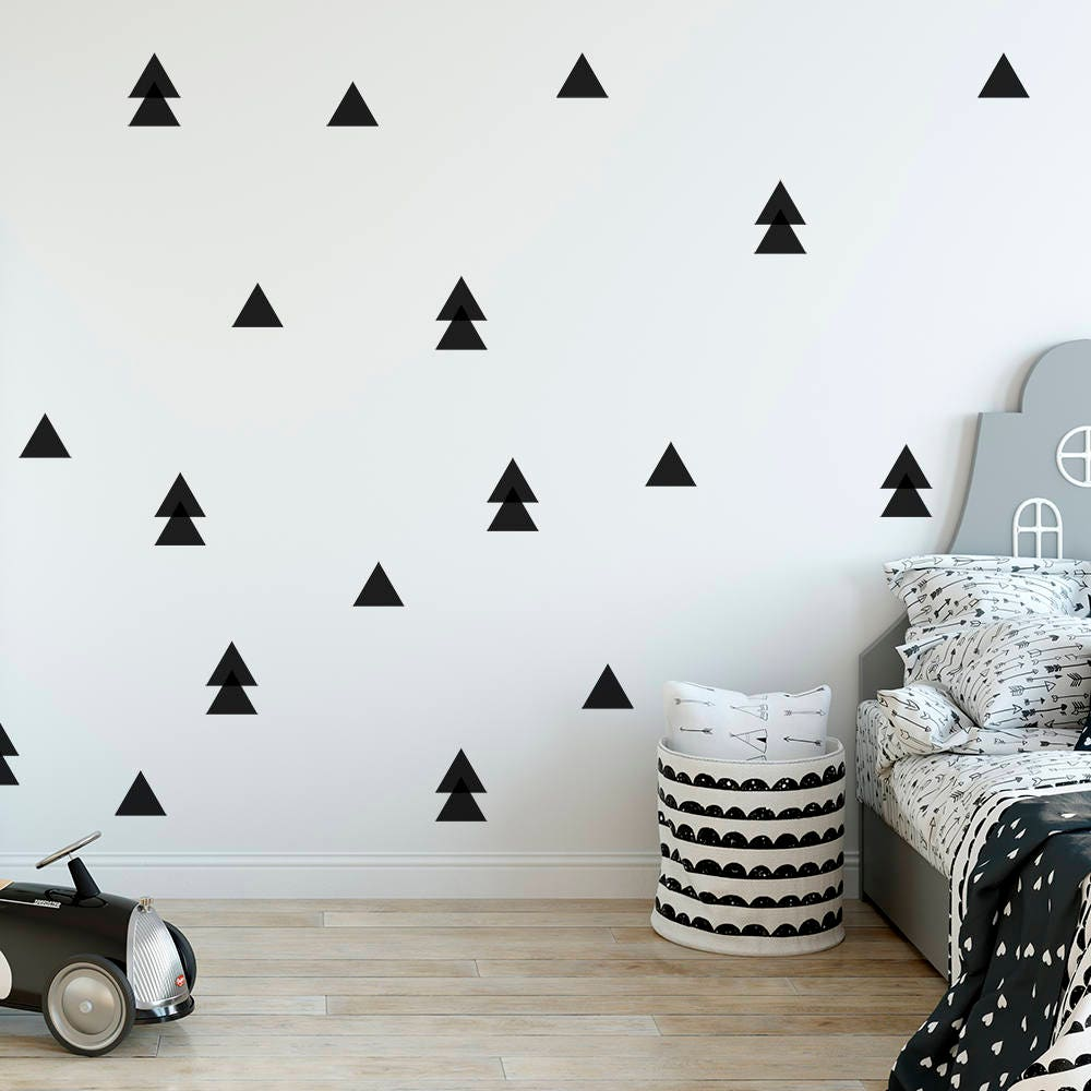 triangle wall decal kids room decor triangle wall sticker nursery decor modern