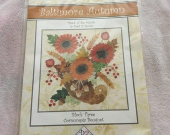 BALTIMORE AUTUMN -Cornucopia Bouquet- Laser Cut - Quilt Kit Only