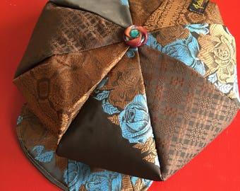 Newsboys hat made of neckties