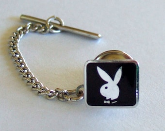 Rare Playboy Bunny Tie Tack Father's Day Gift Birthday Present Collectible Mid Century Memorabilia Vintage Jewelry Gift for Him Gift for Her