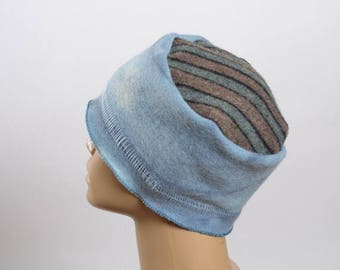 ON SALE Women's Hats - Hand Dyed Repurposed Hat - WInter Hats -  Blanket Hat - Women's Winter Hats - Warm Hats