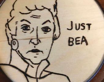 Bea Arthur  woodburning