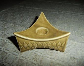 Vintage Relief triangular candleholder - Kronjyden Denmark - Jens Quistgaard design