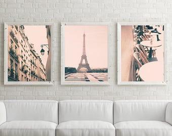 Paris photography, canvas art, Paris prints, Paris wall art, large wall art, Paris canvas, Eiffel tower print, pink wall art,canvas wall art