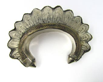 Bracelet tribal manchette en pointes Mogol, audacieux et bijoux