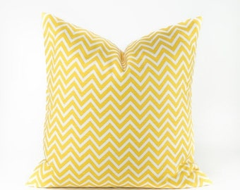 15% Off Sale YELLOW PILLOW - Yellow pillow cover - Decorative pillow - Throw Pillow - Yellow accent pillow - Pillow Covers - Chevron pillow