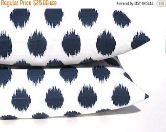 15% Off Sale EURO Pillow Sham Pillow Covers 26x26 Euro sham Navy Pillow Cover Decorative Euro Pillow Cover Ikat Pillow Decorative Pillows Cu