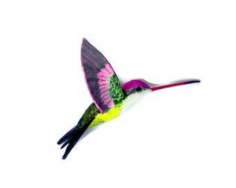 Hummingbird art Paper machè Sculpture bird decorations