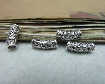 vintage style  antique  silver  plating elbow pipe  pendant finding