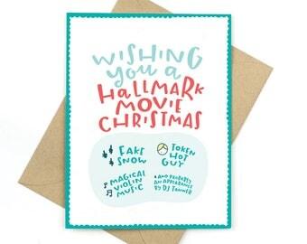 hallmark movie christmas - funny holiday card