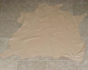 IBZ7876-9) Hide of Light Tan Lambskin Leather Skin