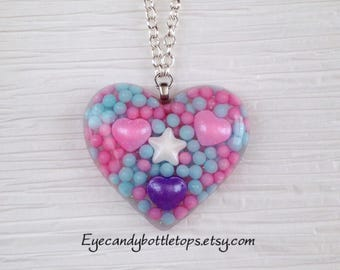 Pastel Resin Charm Necklace