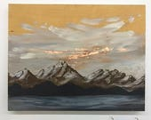 Edmonds at Dawn // Mountain Painting