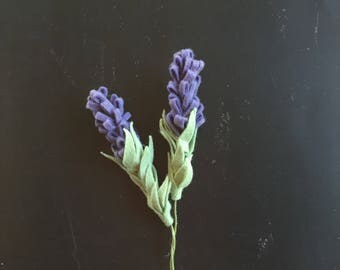 Felt Lavender - Build your own Bouquet - Felt Flowers A La Carte