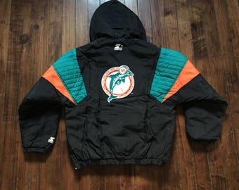 Miami Dolphins Starter Jacket Black NFL football winter coat XL