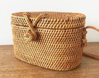 Vintage Woven Rattan Bag