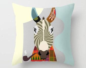 Donkey Pillow, Donkey Gift, Donkey Print, Donkey Decor, Animal Pillow, Animal Gifts, Animal Pillow, Donkey Lover Gift