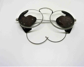Vintage Wilson glasses with leather sides