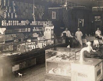 Soda Fountain General Store 1915 Vintage Photo
