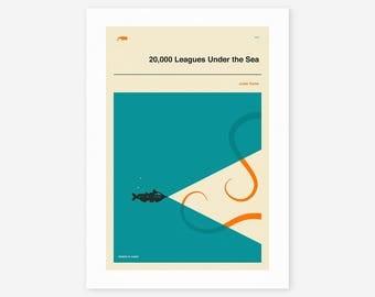20,000 LEAGUES UNDER The SEA (Giclée Fine Art Print/Photo Print/Poster Print)